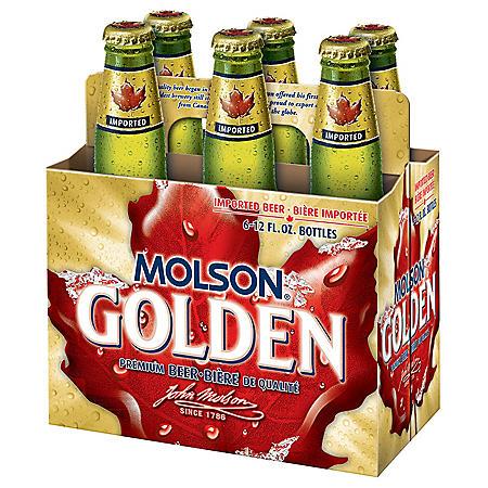 Molson Golden Premium Beer (12 fl. oz. bottle, 6 pk.)