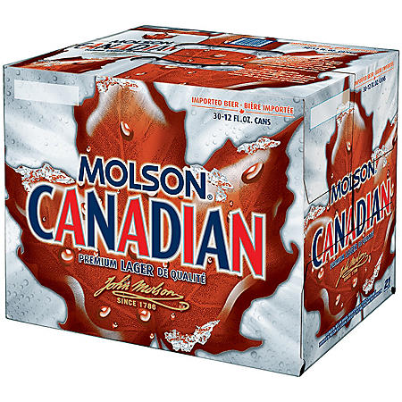 Molson Canadian Lager Beer (12 fl. oz. can, 30 pk.)