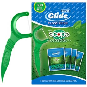 Oral-B Complete Glide Floss Picks, Scope Outlast (300 ct.)