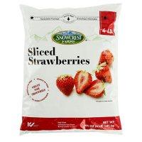 Snowcrest Farms Sliced Strawberries, Frozen (64 oz.)