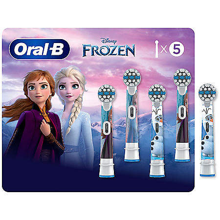 Oral B Kids Extra Soft Replacement Brush Heads featuring Disney's Frozen (5 ct.)