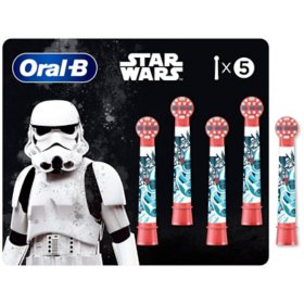 Oral B Kids Extra Soft Replacement Brush Heads featuring STAR WARS (5 ct.)