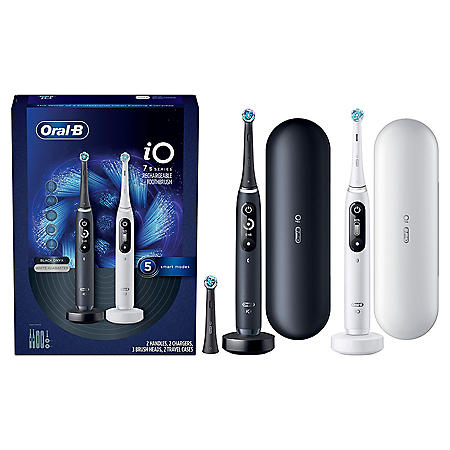Oral-B iO Series 7s Electric Toothbrush, Black Onyx and White Alabaster (2 pk.)