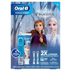 Oral B Kids Power Toothbrush, Refills and Toothpaste featuring Disney's Frozen II
