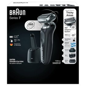 Braun Series 7 7089cc Electric Razor for Men with SmartCare Center, Refills, Precision, Beard and Stubble Trimmers