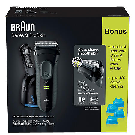 Braun Series 3 ProSkin 3070cc Shaver for Men