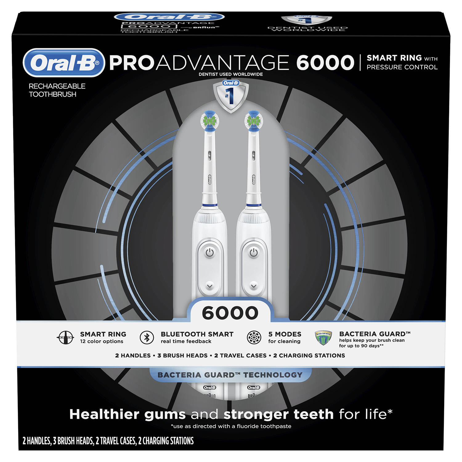 2-Pack Oral-B ProAdvantage 6000 Power Rechargeable Toothbrush