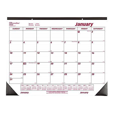 Brownline Monthly Deskpad Calendar, Chipboard, 22 x 17, 2021