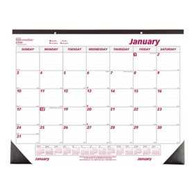 Brownline Monthly Deskpad Calendar, Chipboard, 22 x 17, 2021
