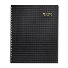 Brownline - DuraFlex 14-Month Planner, Black, 7 1/8 x 8 7/8 -  2016