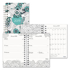 "Blueline Doodleplan Weekly/Monthly Planner, 8"" x 5"", Botanica"