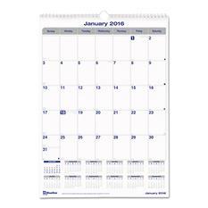 Blueline - Net Zero Carbon Wall Calendar, 12 x 17 -  2016