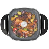 """The Rock by Starfrit 12"""" x 12"""" Electric Skillet"""