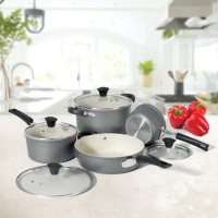 The Rock by Starfrit 8-Piece Cookware Set w/Ceramic Coating Deals