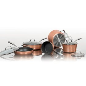 The Rock 10-Piece Copper Cookware Set by Starfrit