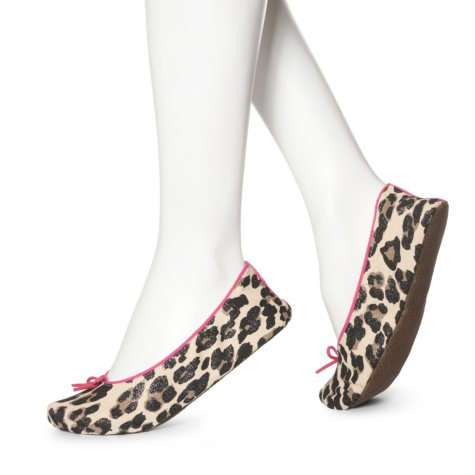 Women's June & Daisy Cotton Slippers - Large Leopard