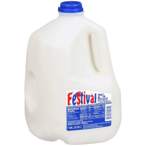 Festival 2% Reduced Fat Milk  (1 gal.)