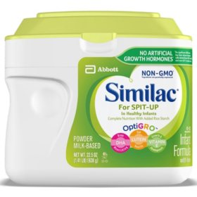 Similac for Spit-Up Non-GMO Infant Formula with Iron (22.5 oz., 6 pk.)