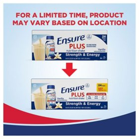 Ensure Plus Nutrition Vanilla Meal Replacement Shakes with