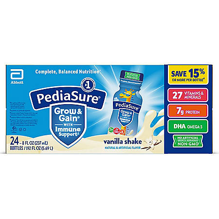 PediaSure Grow & Gain Nutrition Shake for Kids, Vanilla (8 fl  oz