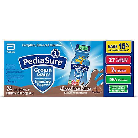 PediaSure Grow and Gain Nutrition Shake for Kids, Chocolate (8 fl. oz., 24 pk.)