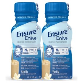 Ensure Enlive Advanced Nutrition Vanilla Meal Replacement Shakes with 20g of Protein (8 fl. oz., 16 ct.)