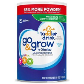 Similac Go and Grow Milk-Based Powder Toddler Drink (40 oz.)