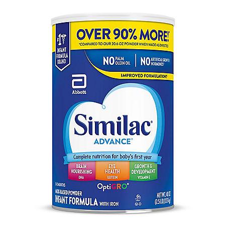 Similac Advance Infant Formula with Iron (40 oz.)