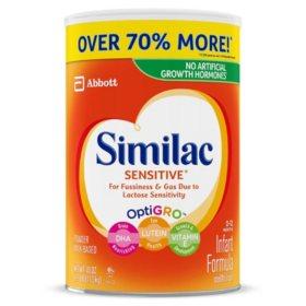 Similac Sensitive Infant Formula with Iron (40 oz.)