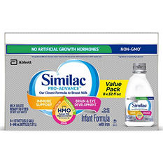 Similac Pro-Advance Ready-to-Feed Infant Formula with HMO (32 fl. oz., 8 pk.)