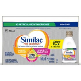 Similac Pro-Sensitive Ready-to-Feed Infant Formula with 2'-FL Human Milk Oligosaccharide (HMO)  (32 fl. oz., 8 pk.)