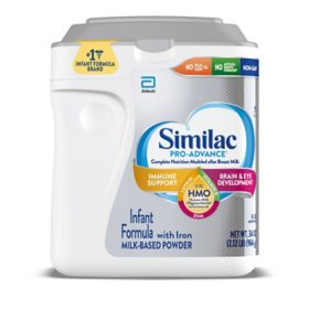 Similac Pro-Advance Non-GMO with 2'-FL HMO Infant Formula with Iron (34 oz.)