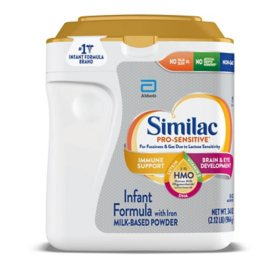 Similac Pro-Sensitive NON-GMO with 2'-FL HMO Infant Formula with Iron (34 oz.)