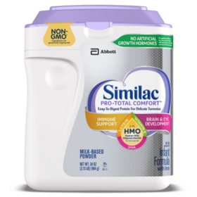 Similac Pro-Total Comfort Non-GMO with 2'-FL HMO Infant Formula (34 oz.)
