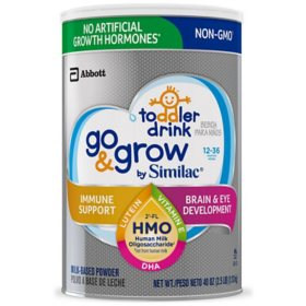 Similac Go & Grow Non-GMO with 2'-FL HMO Milk-Based Powder Toddler Drink (40 oz.)