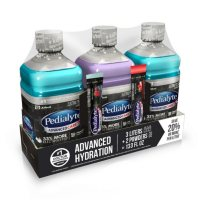 Pedialyte AdvancedCare Plus Electrolyte Solution with 3X the Electrolytes and PreActiv Prebiotics (3 - 1 Liter Bottles and 2 Powder Packets)