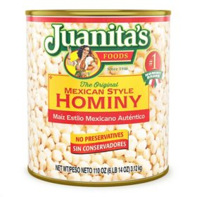 Juanita's Mexican Style Hominy - 105 oz.