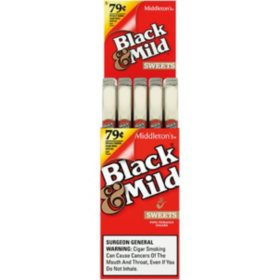 Black & Mild Sweets Plastic Tip Cigar, Upright, Pre-priced $0.79 (1 pk., 25 ct.)