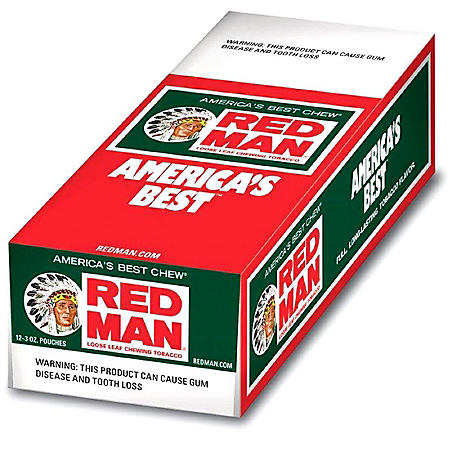 Red Man Chewing Tobacco (3 oz. pouch, 12 ct.) $0.40 Off Per Pouch