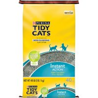 Purina Tidy Cats Non-Clumping Cat Litter Instant Action for Multiple Cats, 40 lb