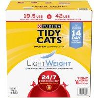 Purina Tidy Cats Light Weight, Low Dust, Clumping Cat Litter 24/7 Performance Multi Cat Litter - 19.5 lb. Box