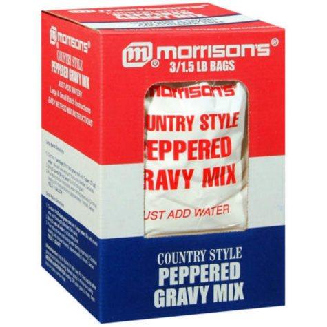 Morrison's® Country Style Gravy Mix - 3/1.5 lb.