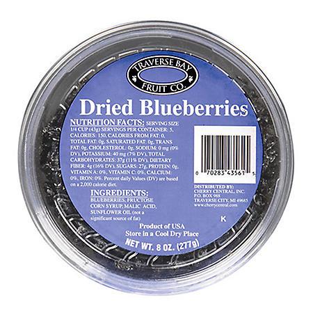 Traverse Bay Dried Blueberries (8 oz., 12 pk.)