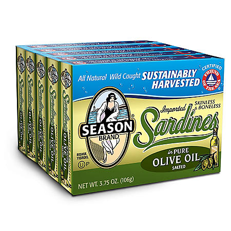 Season Brand Sardines in Olive Oil (3.75 oz., 5 pk.)