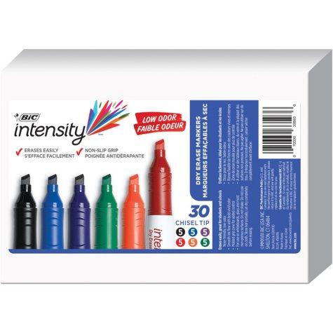BIC® Great Erase Grip Chisel Tip Dry Erase Marker, Assorted Colors, 30ct.