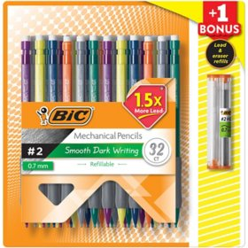 BIC Matic Grip Mechanical Pencil, HB #2, 0.7mm - 32 Pencils