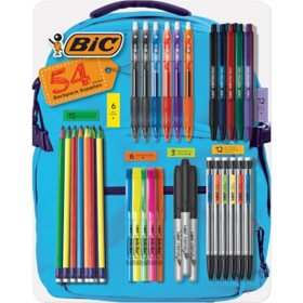 BIC Pen, Pencil, Briteliter, and Intensity Permanent Marker Variety Pack, 54 Ct