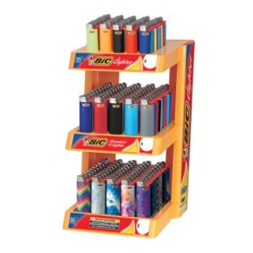 BIC Pocket Lighter 3-Tier Full-Size and Mini Assorted Colors (150 Ct.)