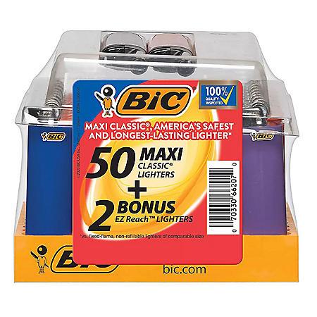 BIC EZ Reach Pocket Lighter Maxi Tray (52 ct.)