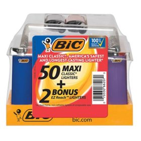 BIC EZ Reach Pocket Lighter Maxi Tray (52 ct.)